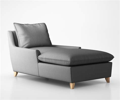 down chaise bliss down filled chaise 3d model