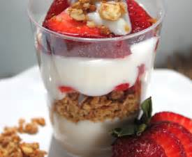 mexican sweet bread and strawberry yogurt granola parfait