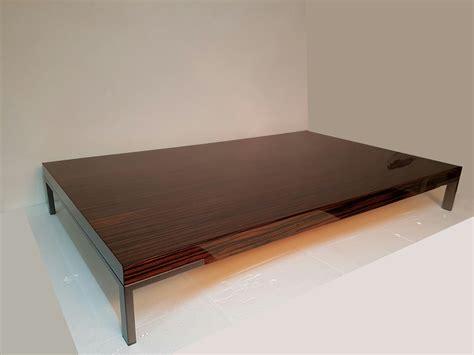 zanotta tavolo tavolino zanotta mod romeo ebano op 154x92x22 scontato