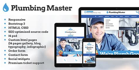 Plumbing Masters Comparison Review Of 9 Plumbing Website Templates