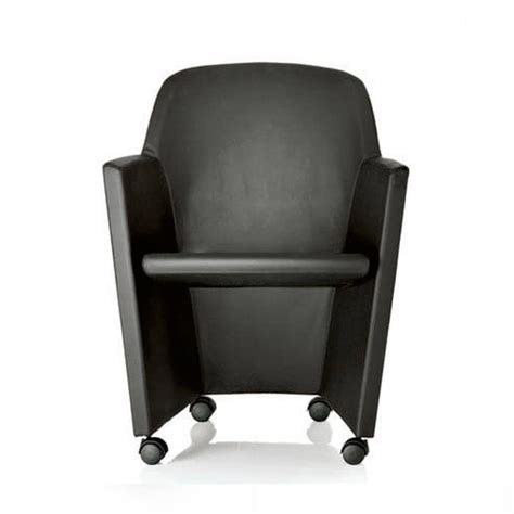 Armchair With Wheels by Padded Armchair For Office On Wheels Idfdesign