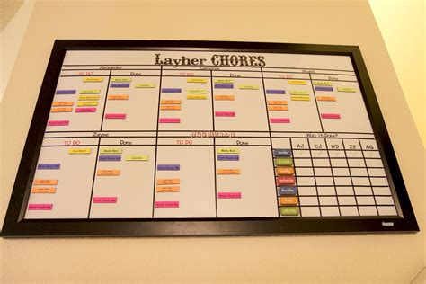Multi Board chore chart for www imgkid the