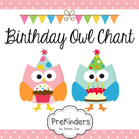School Birthday Card Template by A Printable Birthday Chart For Your Classroom With Owls