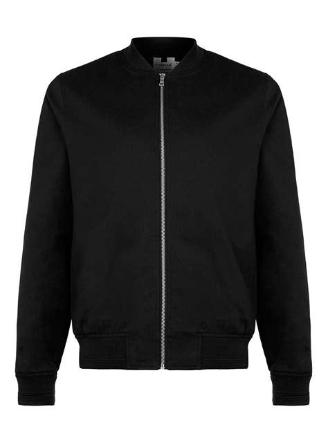 Jaket Bomber Black black cotton bomber jacket topman