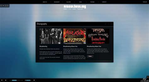 themeforest nitro ritualhealing musician template html5 css3 by nitro themes