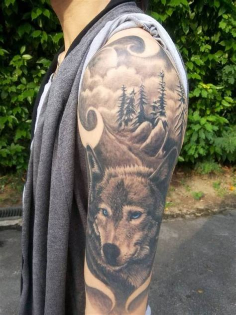 wilderness tattoos the 85 best wolf tattoos for improb
