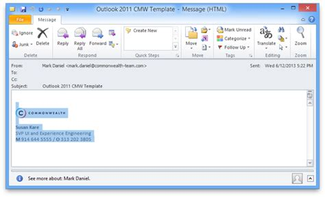 email signature templates for outlook 2010 axinternet