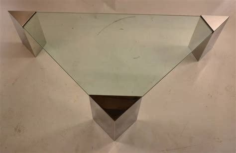 pace triangular glass top coffee table for sale at 1stdibs