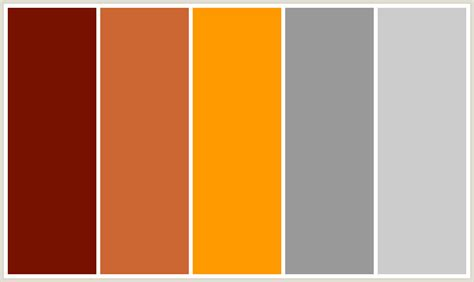 orange color schemes colorcombo187 with hex colors 771100 cc6633 ff9900
