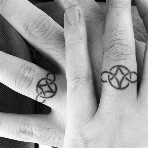 interlocking tattoos for couples wedding ring tattoos for ideas and inspiration for guys