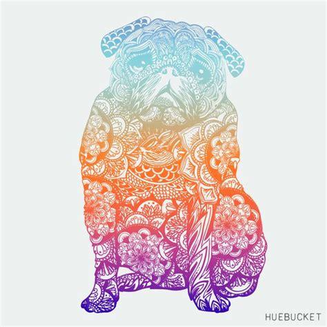 pug mandala mandala pug id 318 by huebucket pugs pugs pugs pug
