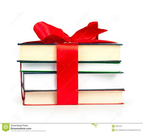 gifts from time and place books stack of book with ribbon like a gift stock illustration