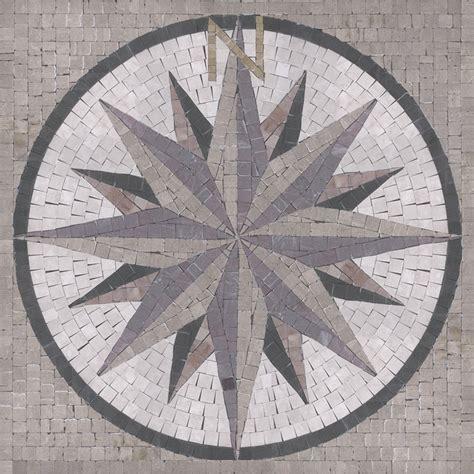 Bathroom Art Ideas Compass 36 Quot X 36 Quot By Appomattox Tile Art Medallions