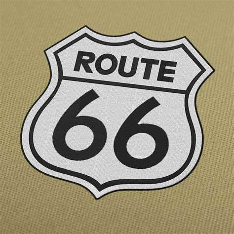 embroidery design route 66 route 66 embroidery design for instant download