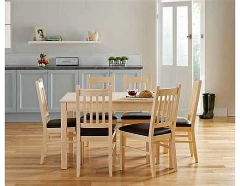 Cucina Dining Table And Chairs Cucina Light Oak Dining Table And 6 Chairs Review
