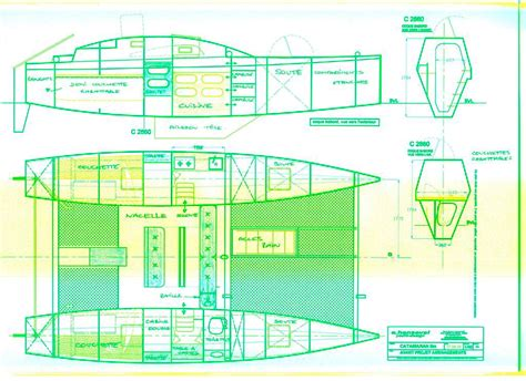 plan builder catamaran plan plywood boat design tekne pinterest