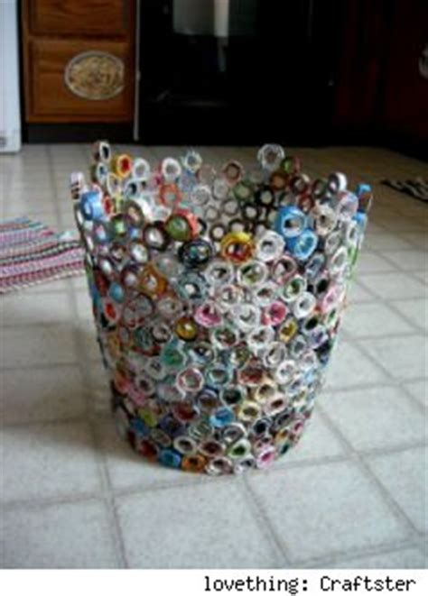crafts from recycled items recycled magazine wastebasket recycle crafts
