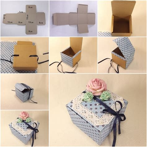 How To Make A Paper Gift Box With Lid - how to make paper gift box fab diy