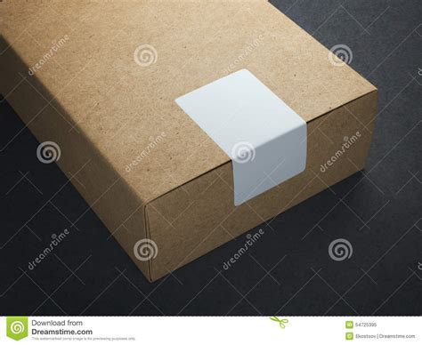 Floor Craft by Craft Paper Box With White Sticker Stock Photo Image