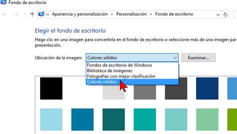 como cambiar escritorio en windows 7 c 243 mo cambiar el color de fondo del escritorio de windows