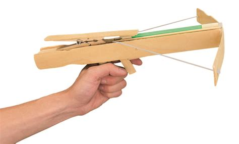 Cool Things To Make With Rubber Bands And Paper - construct a powerful rubber band crossbow make