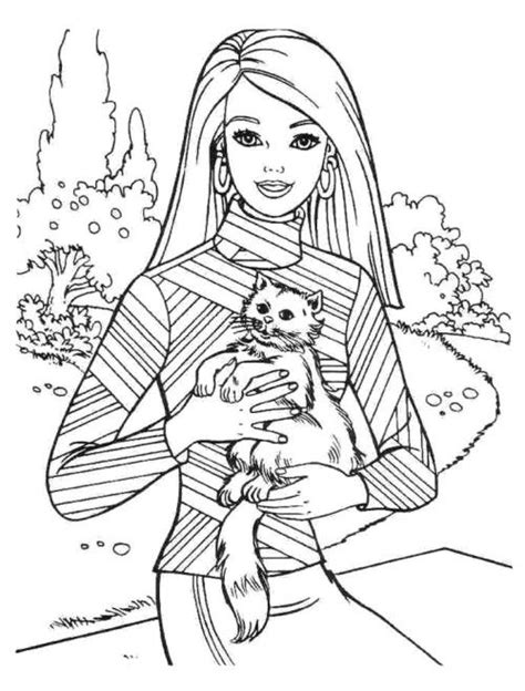 barbie coloring pages pinterest barbie and cat coloring pages kids coloring pages