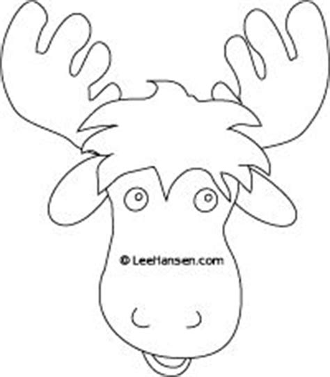 Moose Printable Mask Google Search Animal Masks Pinterest Moose Search And Masks Moose Cut Out Template
