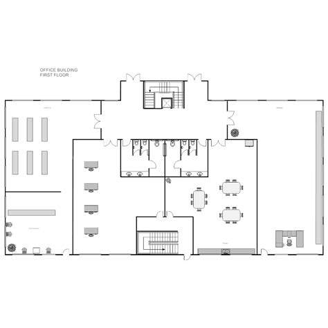 floor plan of office office building plan