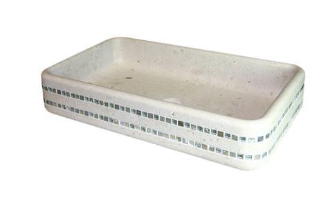 lavello bianco lavello in marmo bianco con mosaico