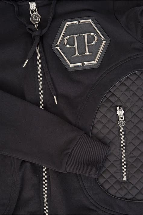 Sweater Jaket Air Hoodie Zipper philipp plein air zip hoodie black