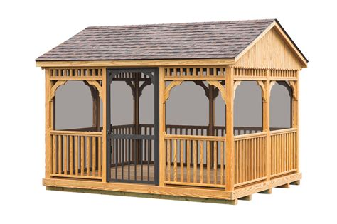 10 X 12 Wood Gazebo 10 X12 Wood Gazebo 171 Amish Sheds From Bob Foote