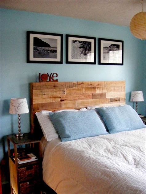 Pallet Wood Headboard Diy Reclaimed Wooden Pallet Headboard Pallet Furniture Plans
