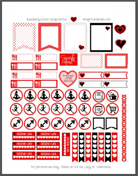 free printable valentines planner stickers printable valentine s day planner stickers to organize