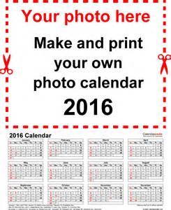 Template 4 photo calendar 2016 for pdf 12 pages portrait format