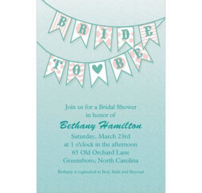 Balloonable Banner Flag Bridal Shower To Be custom to be flags bridal shower invitations city