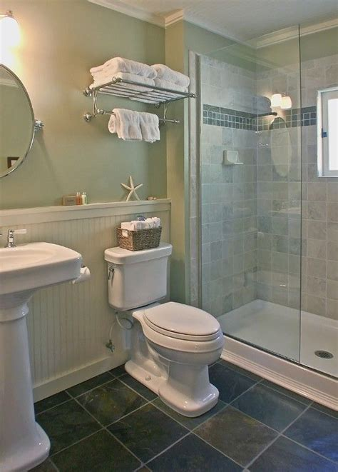 Walk In Shower Bathroom Designs The Bath Has Vintage Style Fixtures And A Roomy Walk In Shower The Beadboard Which Would