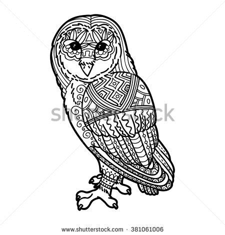 balance anti stress coloring zentangle balance and stress relief coloring book for adults magic owl sitting on stock illustration