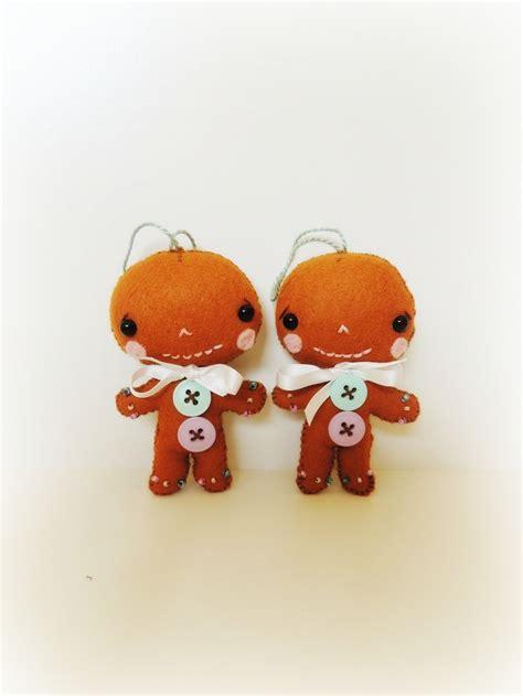 gingerbread man ornament handmade christmas ornament