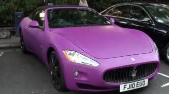 Purple Maserati Matte Pink Purple Maserati Grancabrio