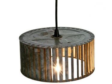 Diy Recycled Home Decor Repurposed Vintage Galvanized Turbine Pendant Lamp Junk