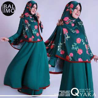 Gamis Baju Muslim Syari Syar I baju muslim model gamis syar i terbaru qyara balimo