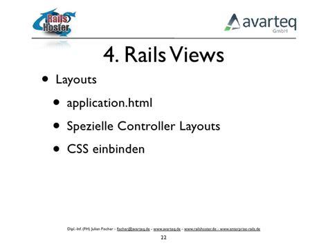 layout false rails controller ruby on rails vorlesung 4 rails views