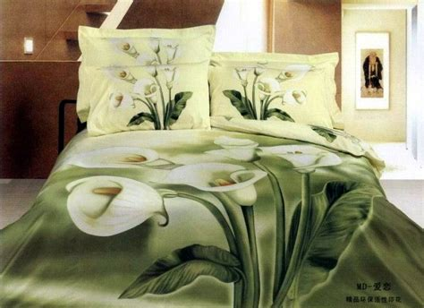 Bedcover 3d 3 In 1 180x200cm Femina 1 Set 3d green floral bedding set king size quilt duvet cover sheets bedspread bed in a bag