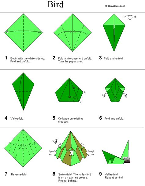 How To Make An Origami - origami bird birkeland