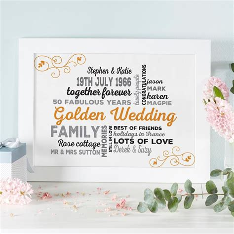 typography gifts personalised wedding anniversary typographic print live previews