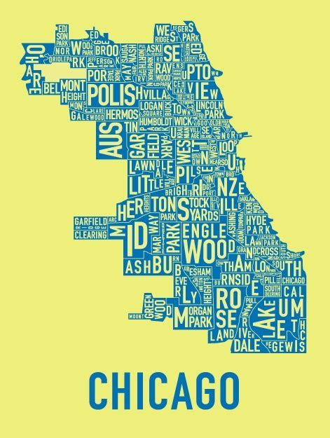Sections Of Chicago by Chicago Neighborhood Map Chicago