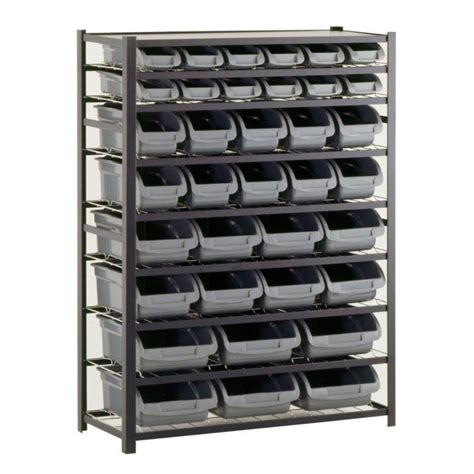 home shelving sandusky 36 bin 57 in h x 44 in w x 16 in d black