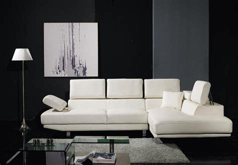 white bonded leather sectional sofa set black