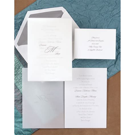 sheer initial wedding invitations sheer simplicity invitation invitations by