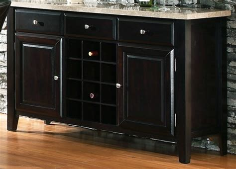 espresso wood contemporary sideboard buffet server console